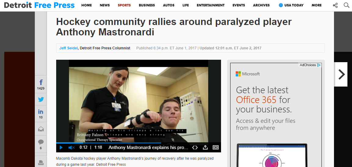 FREEP PRESS ARTICLE: Anthony Mastronardi